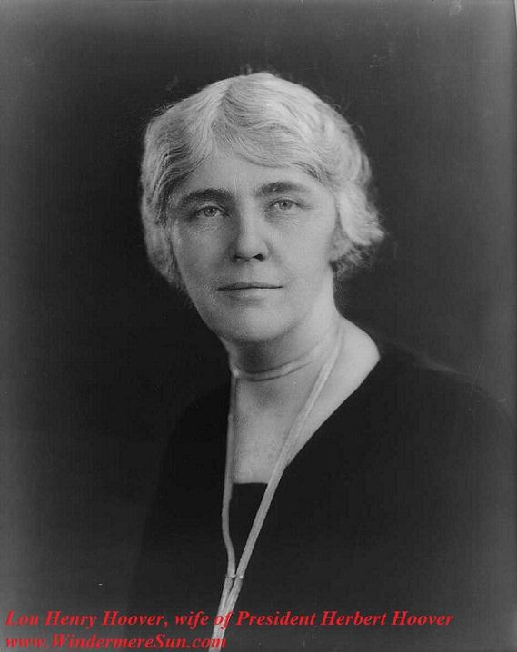 Egg Roll-Louhenryhoover, wife of Pres Herbert Hoover, pub do final