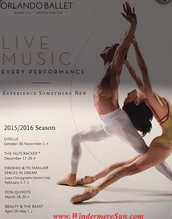 Orlando Ballet School South Campus Live Music poster at 7988 Via Dellagio Way, Suite 204., Orlando, FL final