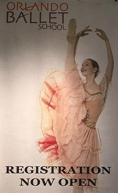 Orlando Ballet School South Campus registration poster 2 at 7988 Via Dellagio Way, Suite 204., Orlando, FL 75 percent of half size final