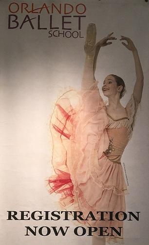 Orlando Ballet School South Campus registration poster 2 at 7988 Via Dellagio Way, Suite 204., Orlando, FL half size final