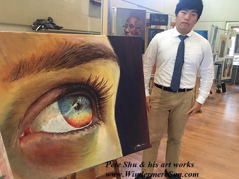 Art Show of Windermere Prep School- art works3 of Pete Shu final