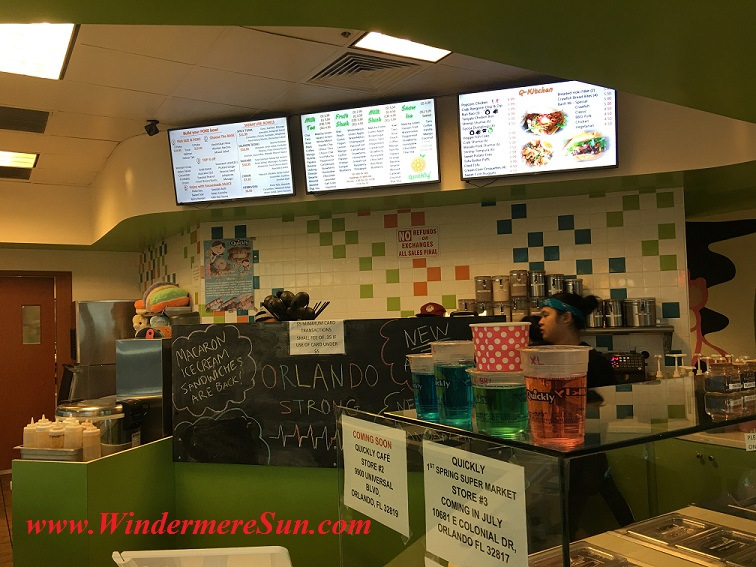 Quickly Boba & Snow4-inside wall menu and new stores sign final