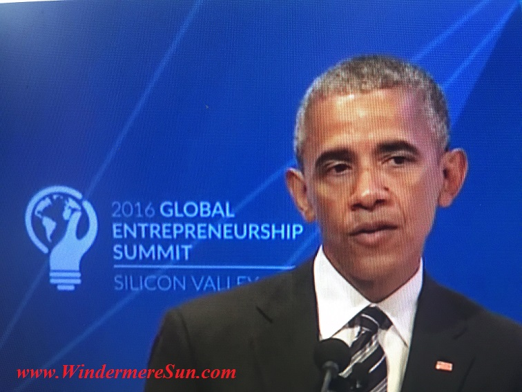 President Obama at GES2016 final