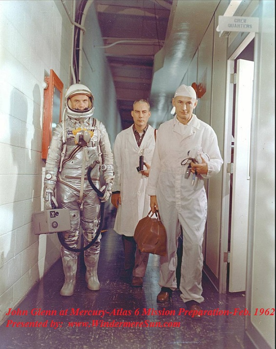 John Glenn at Mercury-Atlas 6 Mission Preparation-Feb. 1962 final
