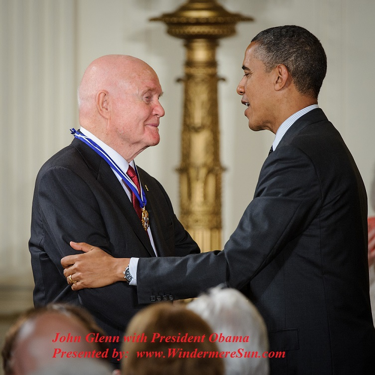 John Glenn Receives Presidential Medal of Freedom