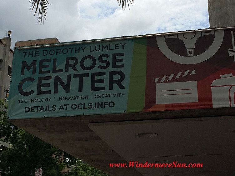 Melrose Center sign3 final