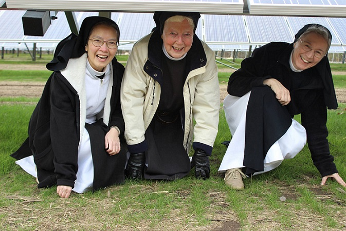 Solar panels of Mt St Mary's Abbey with nuns final