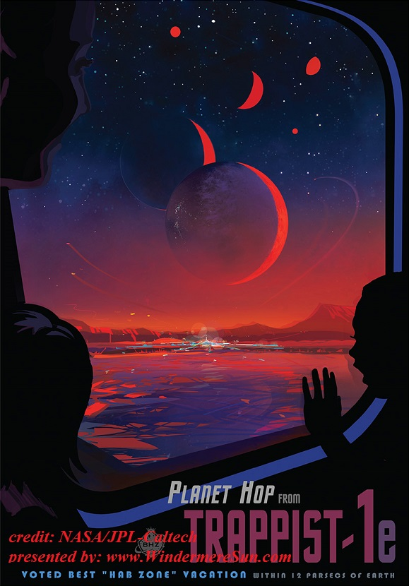 poster imagines what a trip to TRAPPIST-1e might be like. credit NASA JPL Caltech final
