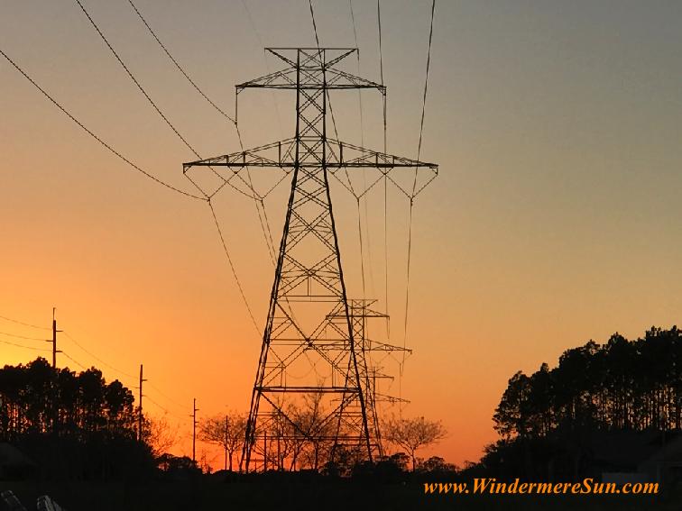 Sunset w powerline tower 2