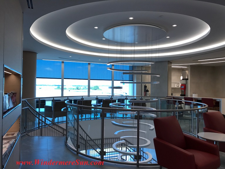 American Airline Admirals Club ceiling light and staircase sculptureJPG final