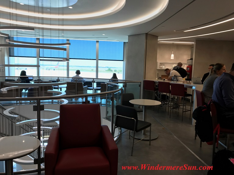 American Airline Admirals Club level 2 w staircase sculpture & seats final