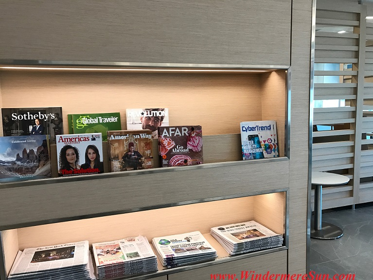American Airline Admirals Club magazine & newspaper rack final