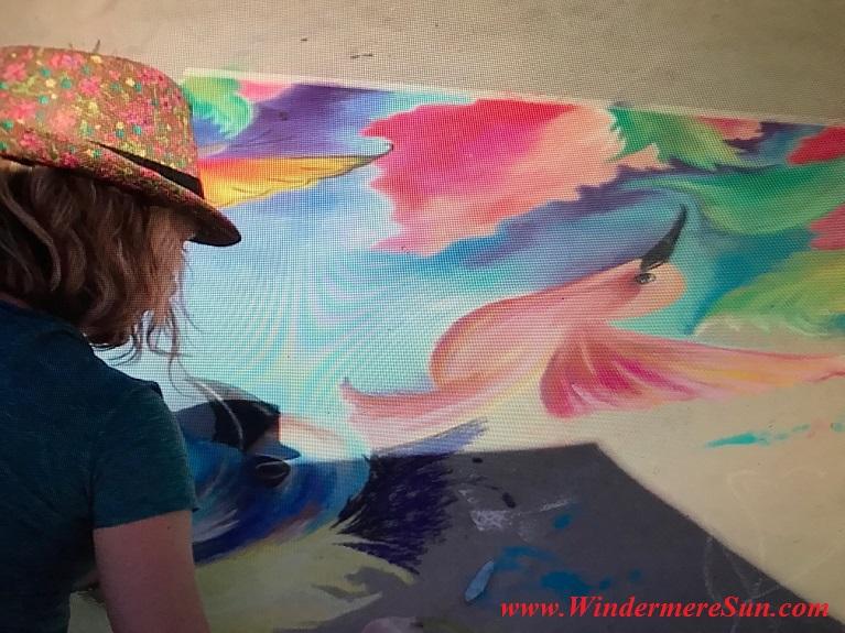 bird artistic art work with artist final