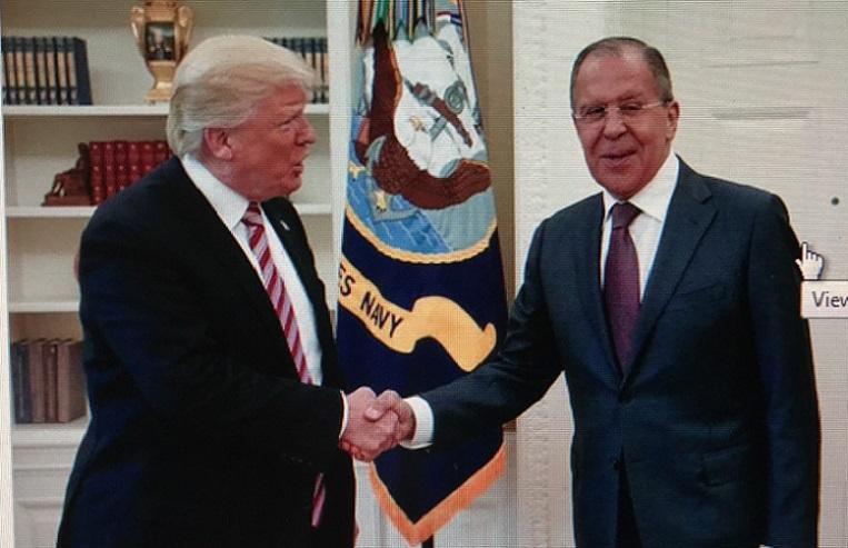 Trump with Sergey Lavrov no tweet final