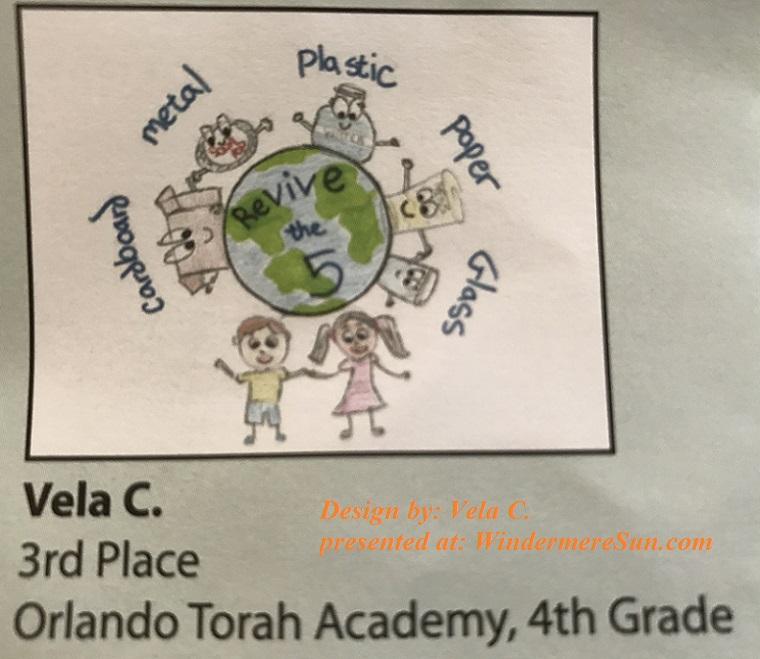 3rd place from Orlando Torah Academy, 4th grade, Vela C final