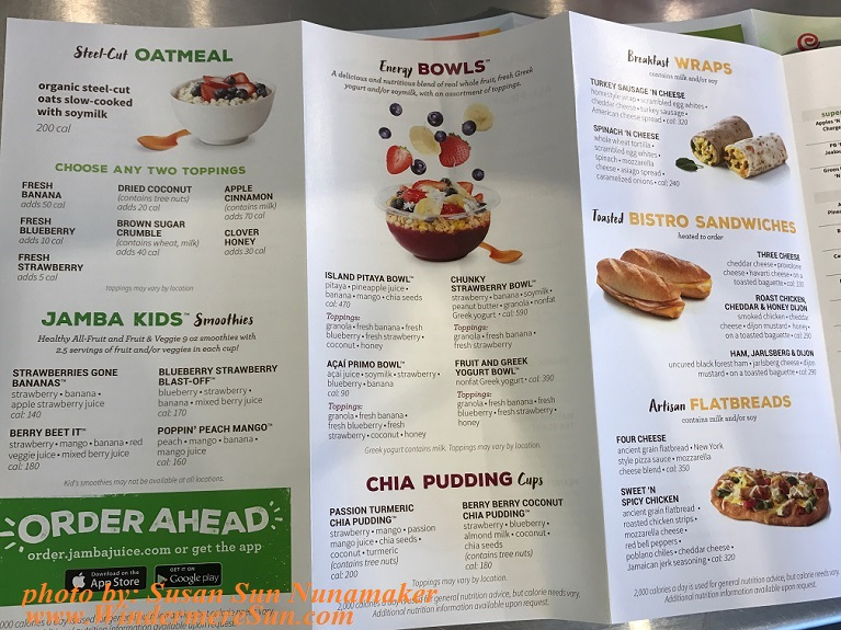 Jumba Juice menu-oatmeal, flatbread, wrap final