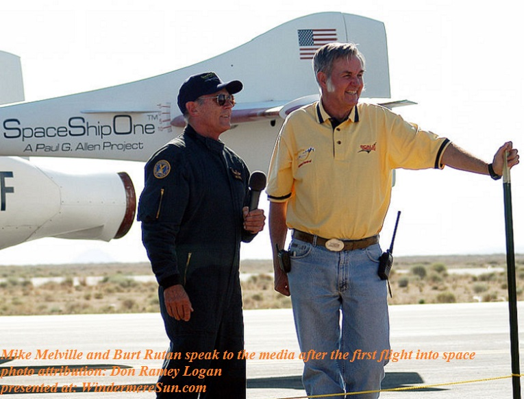 Mike_Melville_and_Burt_Rutan_speak_to_the_media_after_the_first_flight_into_Space, photo attribution-Don Ramey Logan final