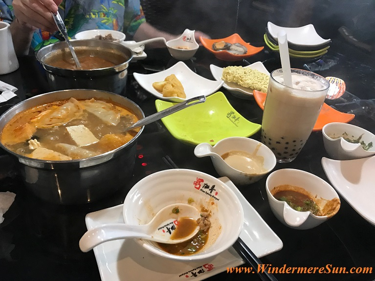items and sauces and milk tea final