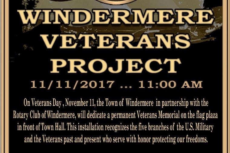Windermere Veeran Memorial Project sign final