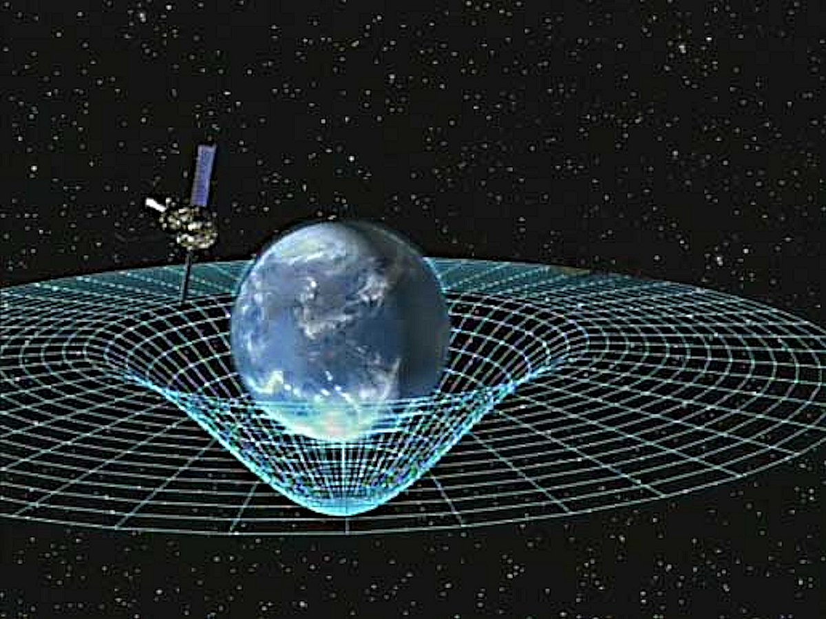 Spacetime-GPB_circling_earth, Attribution-NASA