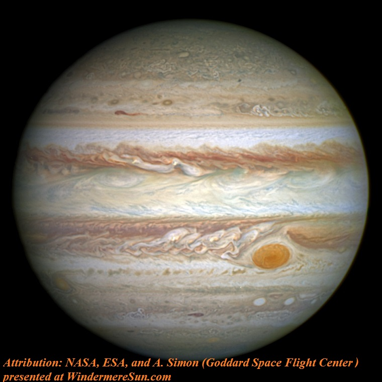 Jupiter_and_its_shrunken_Great_Red_Spot, attribution-NASA, ESA, and A. Simon ,Goddard Space Flight Center final