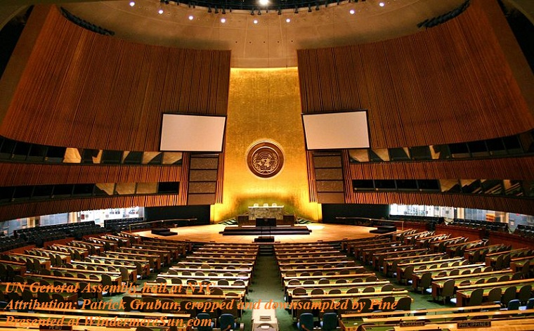 UN_General_Assembly_hall at NYC, Attri Patrick Gruban, cropped and downsampled by Pine final