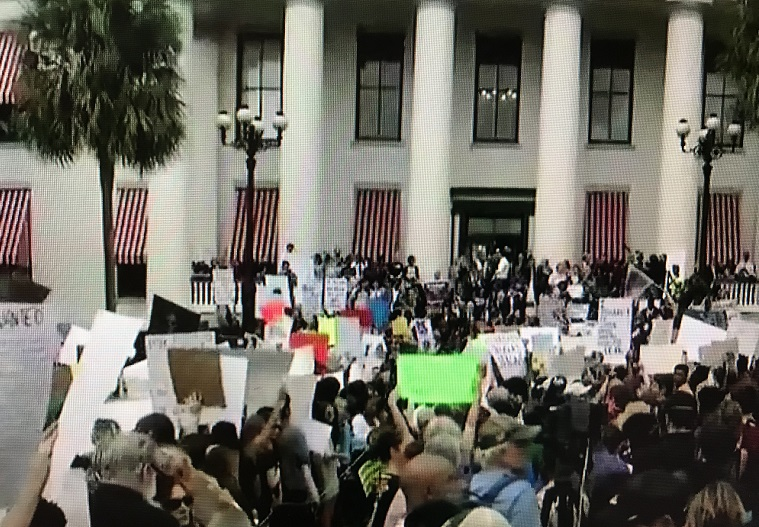 Florida students and activists at the old Capitol buidling at Talahassee, FL final