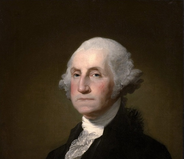 George Washington, painted by Gilbert_Stuart,_Williamstown_Portrait_of_George_Washington, portrait currently at Clark Art Institute, PD final short