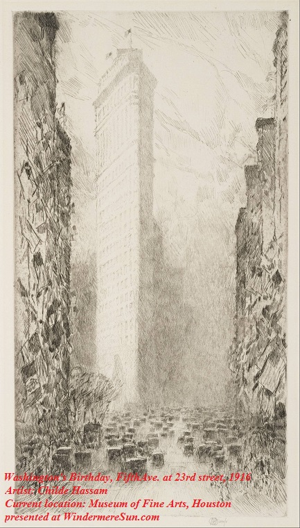 Washington's_Birthday--Fifth_Avenue_at_23rd_Street, 1916_-_Google_Art_Project,artist-Childe Hassam, current location-Museum of Fine Arts, Houston final