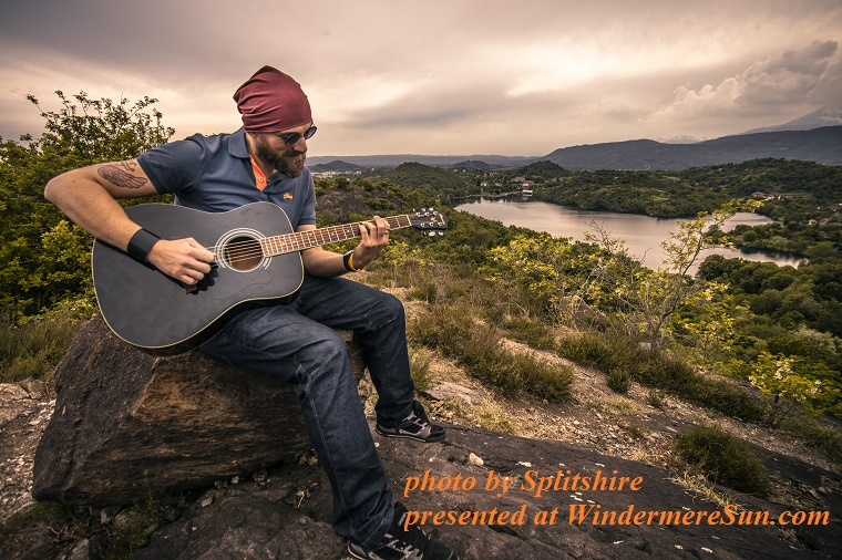 guitar player-landscape-nature-man-person, by Spliltshire final