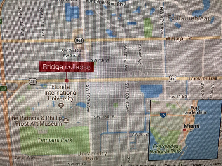 map where the bridge collpased final