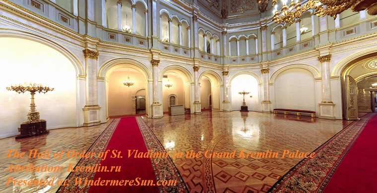 Kremlin, The Hall of the Order of St. Vladimir in the Grand Kremlin Palace, Grand_Kremlin_Palace_Vladimirsky_hall final