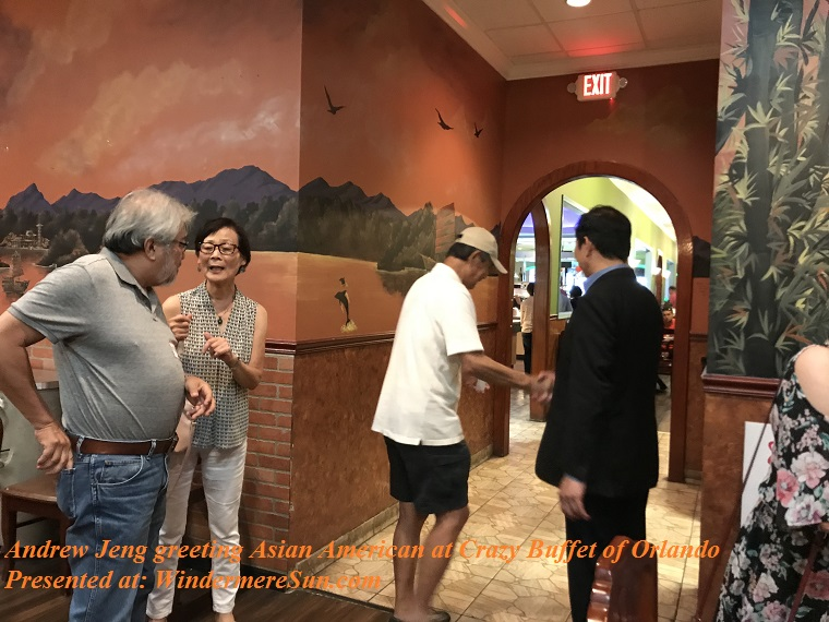 Andrew Jeng greeting Asian American at Crazy Buffet of Orlando-1 final