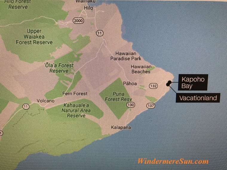 Map of Kapoho Bay and Vacationland of Big Island of Hawaii final