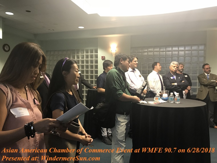 attendants at Asian American Chamber of Commerce Event at WMFE 90.7 on June 28, 2018 final