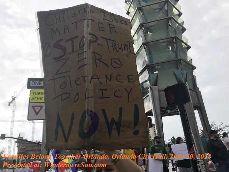 Families Belong Together-Orlando, Orlando City Hall, June 30, 2018-11, final