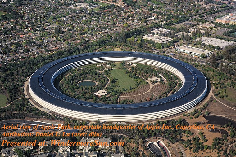 Apple, Aerial view of Apple Park dllu, attribution-Daniel L. Lu user-dllu final