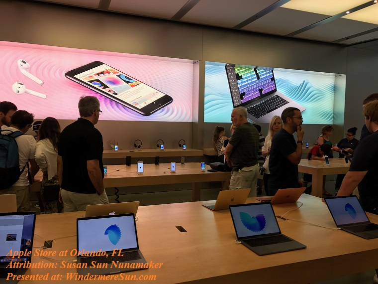Inside of Apple store in Millenial Mall at Orlando, FL final