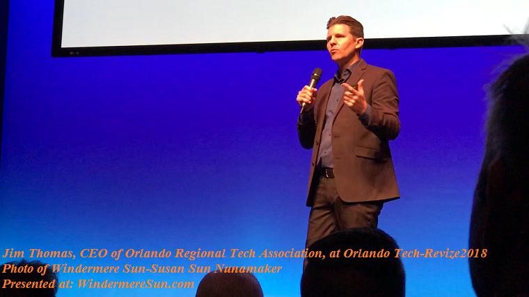 Jim Thomas CEO of Orlando Regional Tech Association at Orlando Tech-Revize2018 final