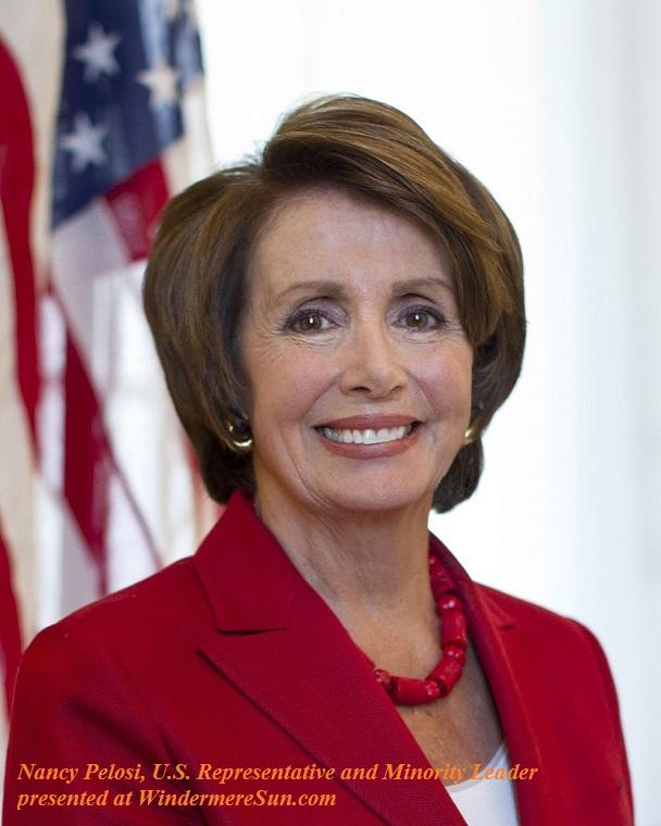 Nancy_Pelosi, Official portrait of U.S. Representative and Minority Leader Nancy Pelosi final