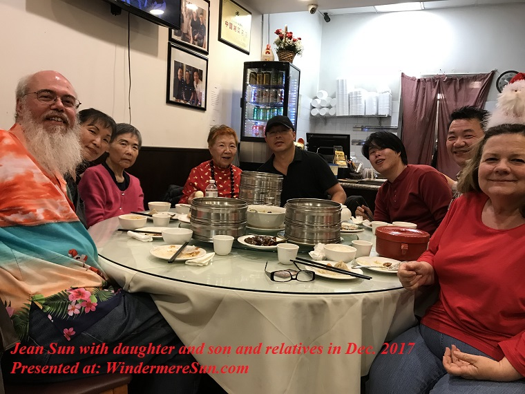Jean Sun with daughter and son and relatives in Dec. 2017 final