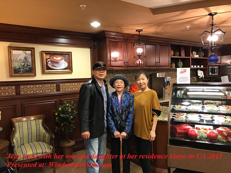 Jean Sun, with her son and daughter at her residence bistro in CA 2015 final