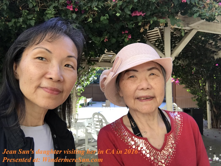 Jean Sun's daughter Susan visiting her in CA in 2016 final