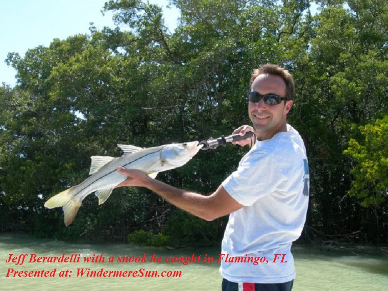 snook, Jeff Berardelli with a snook he caught in Flamingo, FL final