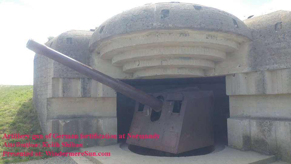 Artillery gun at German fortification in Normandy-5 final