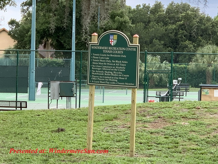 Windermere Recreation Center Tennis Court Rules final