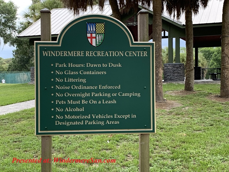 Windermere Recreation Center rules final