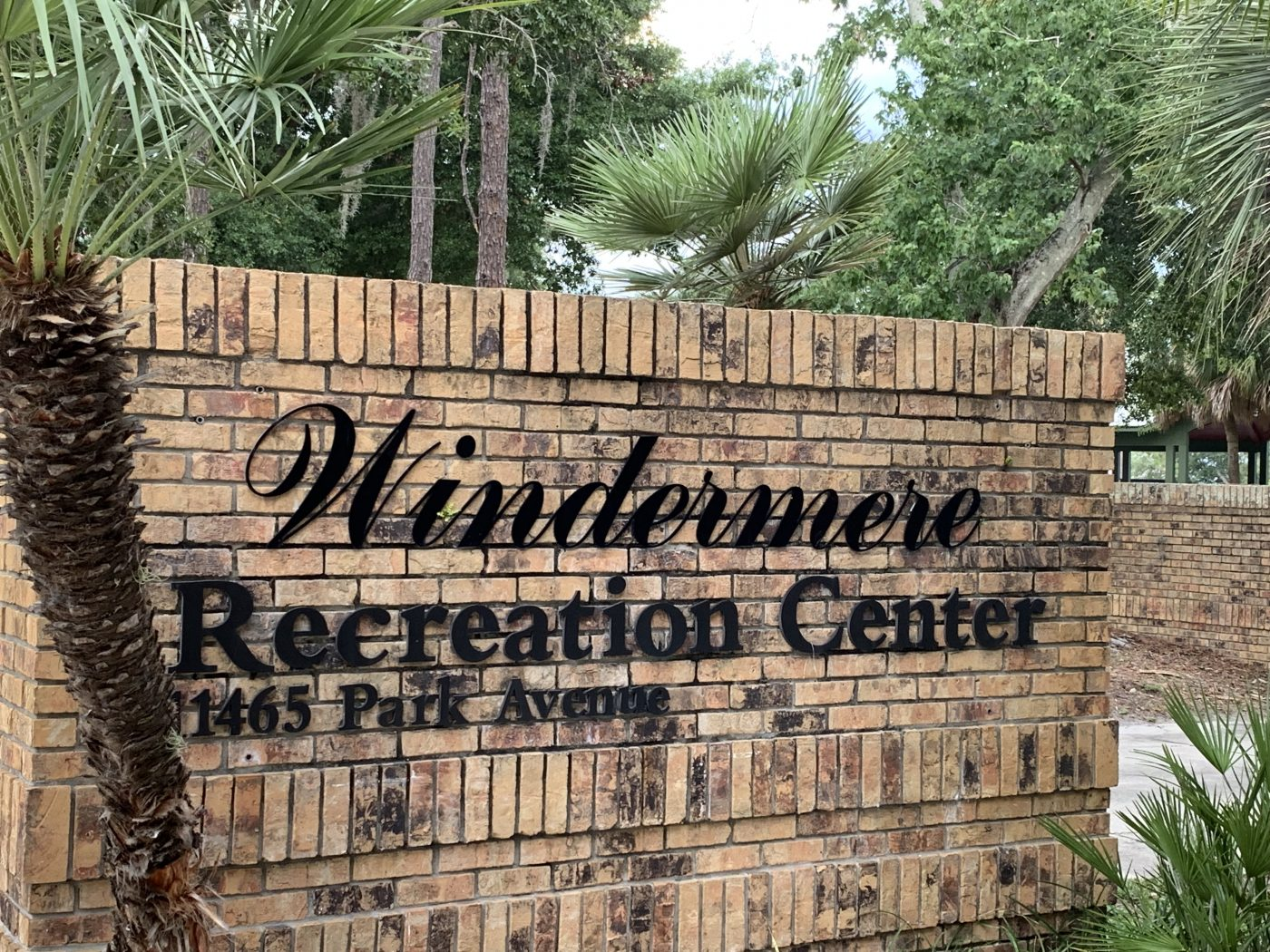 Windermere Recreation Center sign-1 final