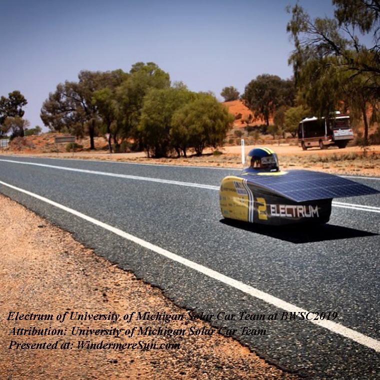 World Solar Challenge 2019-solar car team Electrum final
