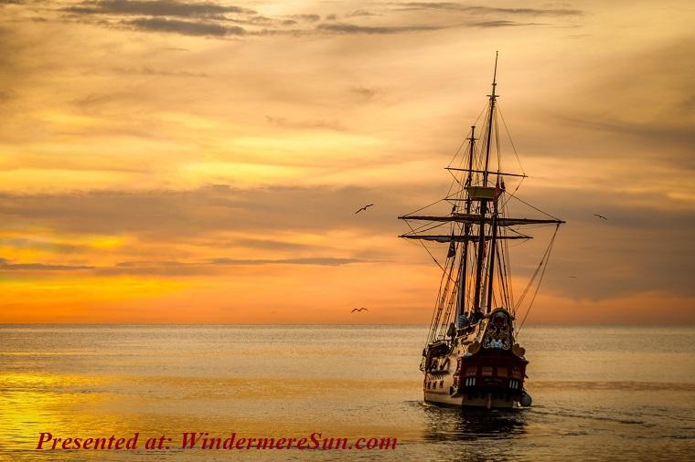 Ship of Democracy, sunset-ship-boat-sea-37730 (1) final